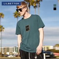 【2件2.5折:46】Lilbetter2019短袖t恤男潮流半袖港风百搭ins打底衫夏季宽松短袖