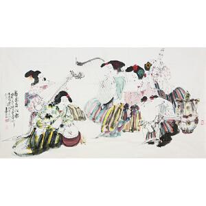 王西京(款) 《黎国春韵图》