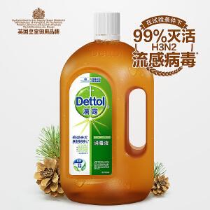 滴露(Dettol)消毒液1.2L*2 家用杀菌消毒衣物地板宠物消毒伤口适用
