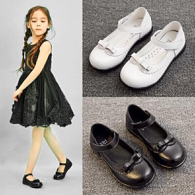 女童皮鞋新款女孩单鞋小学生小皮鞋公主鞋黑儿童
