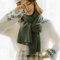 韩版秋冬季新款学生超大保暖百搭柔软亲肤纯色仿羊绒围巾女