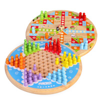 木质彩色跳棋儿童3-7岁男孩女孩趣味早教比赛玩具