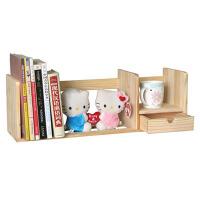 宜哉 木质小书架 桌上儿童书架 60宽度 收纳书架 松木无油漆 健康家居 桌面收纳  SY1A.60