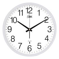 金属静音电波钟日历温度创意客厅挂钟夜光钟表多款钟面