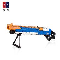 双鹰C81004军事系列杠杆式霰弹枪益智拼装组装积木玩具枪男孩礼物