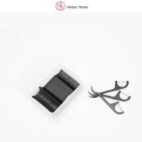 弓形50支黑色剔牙牙线棒便携装 Heilan Home/海澜优选生活馆