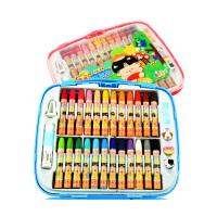 西瓜太郎 12色24色36色油画棒蜡笔 安全无毒 塑料盒装 儿童画画笔涂鸦绘画蜡笔