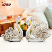 创意家居天鹅摆件 家里装饰品房间温馨 结果礼物