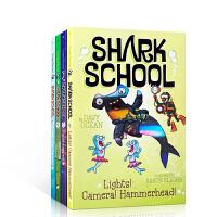顺丰发货 英文原版 Shark School Shark-tastic Collection Books 1-4 鲨鱼