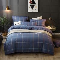 伊迪梦家纺 全棉活性磨毛V棉多规格床单式四件套 环保有机纯棉 保暖舒适单人双人床HC651