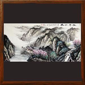 1.4米山水《江南之春》中华两岸书画家协会主席R658