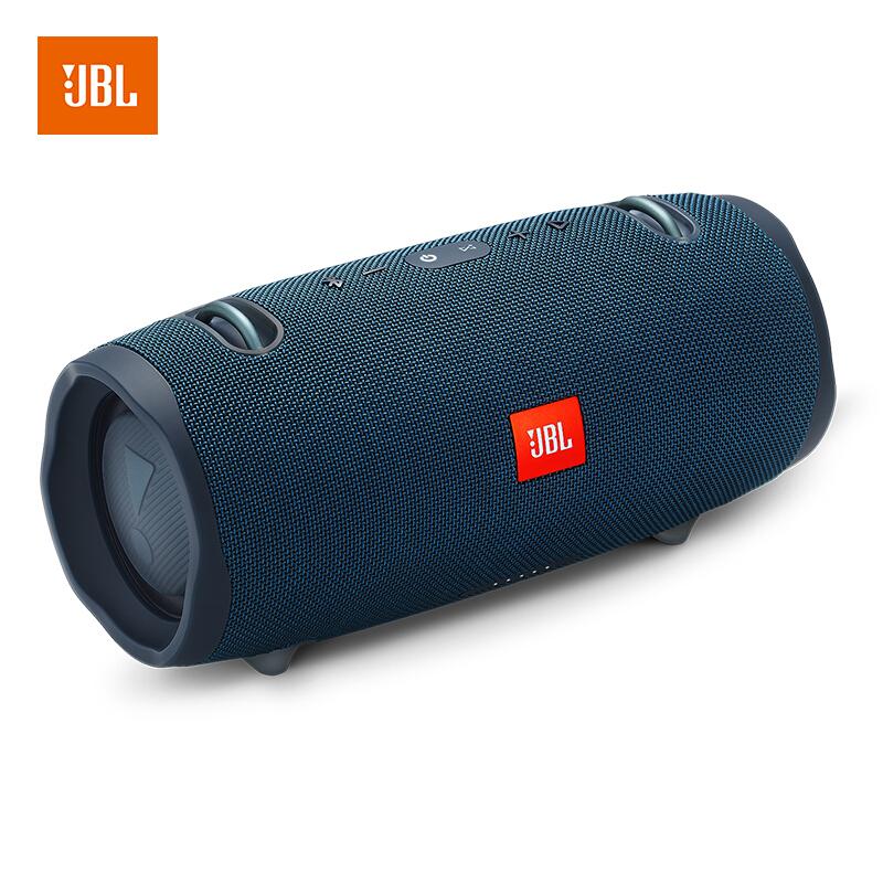 【当当自营】JBL Xtreme2 蓝色 音乐战鼓二代 蓝牙音箱 低音炮 户外便携音响 电脑音箱 防水设计 可免提通话 澎湃音效  有颜值有实力,一体式设计防水!