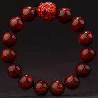 金星小叶紫檀貔貅手串男老料顺纹高密檀木手链佛珠