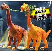 电动恐龙 会下蛋投影的腕龙行走恐龙蛋模型男孩儿童玩具
