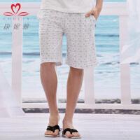 康妮雅家居服2013夏装新品 男装印花休闲棉质格调短裤