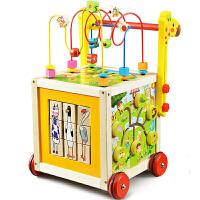 多功能儿童宝宝学步车 手推车防侧翻婴儿大绕珠儿童车玩具