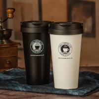 汉馨堂 保温杯 便携内外304不锈钢真空咖啡杯带手提保温杯创意礼品