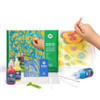 儿童颜料水拓画套装儿童涂鸦湿拓画套装浮水画水影