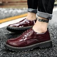 休闲皮鞋男新款商务工装鞋板鞋 男英伦男鞋休闲鞋男 青年男士增高鞋子男