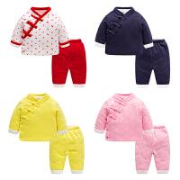 儿童唐装汉服男童套装女宝宝新年过年百岁抓周衣服婴儿周岁礼服秋
