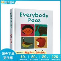 英文原版 Everybody Poos 大家都要拉便便 五味太郎 吴敏兰绘本123 第30本 精装小本 Everyon