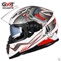 GXT摩托车头盔男全盔双镜片全覆式跑赛车四季机车冬季防雾安全帽