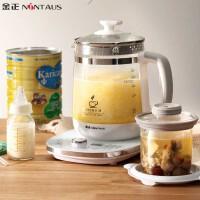 金正1.8L调奶器恒温婴儿玻璃水壶煮冲奶机自动温奶器暖奶器温奶壶 浅灰色