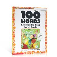 英文原版 学乐美国小学一年级应掌握的100词汇 100 Words Kids Need to Read by 1st