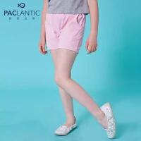 派克兰帝童装女童针织短裤夏季儿童时尚百搭针织短裤