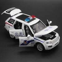 6开门 合金警车金属路虎小汽车模型儿童玩具