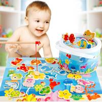 磁性玩具1-2-3岁-6周岁小女孩男宝宝智力拼图积木质儿童玩具