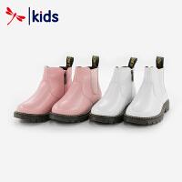【2件3折到手价:44.7元】红蜻蜓童鞋女童中童时尚皮靴皮靴
