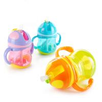 婴儿童训练学饮杯瓶夏季 宝宝吸管杯幼儿园带手柄喝水杯子