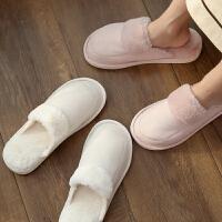 居家软底防滑家用保暖棉拖鞋女冬季室内情侣毛绒拖鞋男