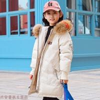 冬季儿童羽绒服女童中长款加厚中大童童装2018新款韩版洋气冬装外套潮秋冬新款