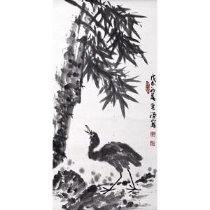 L31李苦禅鹭鸶翠竹