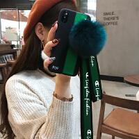 韩国潮牌iphone6s手机壳挂绳毛线苹果7plus硅胶套8p简约女款x全包