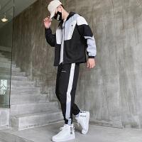 男休闲运动套装春秋季新款韩版潮流搭配帅气一套秋装衣服两件套