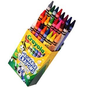 当当自营Crayola 绘儿乐 24色可水洗蜡笔 52-6924