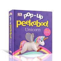 【全店300减100】英文原版进口纸板书 DK立体书 捉迷藏 独角兽Pop-Up Peekaboo! Unicorn 躲