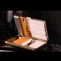 创意烟盒带usb充电打火机个性时尚礼品防压烟盒20只装充电打火机一体金属超薄个性点烟器