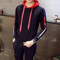 新款秋款男士连帽卫衣休闲长裤青少年韩版小个二件套装S小码