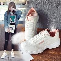 2018女鞋休闲鞋韩版平底单鞋女运动鞋圆头系带学生时尚圆头小白鞋板鞋女