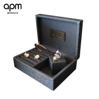六一儿童节520APM Monaco珠宝首饰收纳盒女戒指盒婚礼手饰品盒古风欧式项链盒子520 默认款式