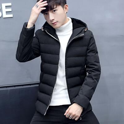 冬季韩版潮流保暖棉服男士休闲连帽加厚外套棉衣时尚帅气百搭棉袄