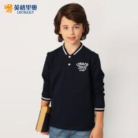 2018春装新款男童长袖休闲T恤童装中大童学院风大码宽松打底衫