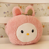 暖手抱枕捂手枕插手小号毛绒玩具公仔靠垫兔子儿童生日送女生