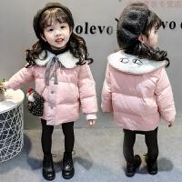0女童韩版棉衣1女宝宝冬装外套洋气小童2棉袄婴儿童装羽绒3岁 粉色