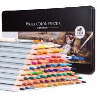 72色 得力6524水溶性彩色铅笔 铁盒秘密花园填色笔 涂鸦画笔