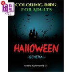 【中商海外直订】Halloween General: Thematic Coloring Books for Adul